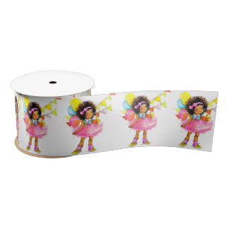 Cute Little Girl Ribbon Satin Ribbon