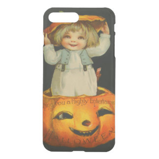 Cute Little Girl Smiling Jack O' Lantern Pumpkin iPhone 7 Plus Case