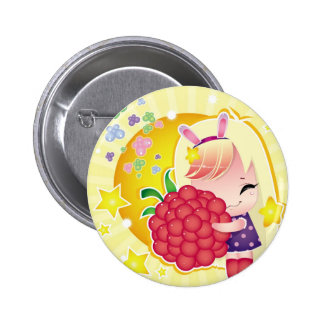 Cute little girl with a raspberry pin