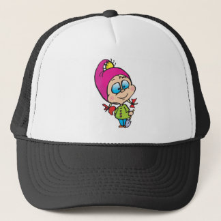 cute little gnome trucker hat