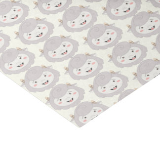 Cute Little Gray Monsters Tissue Paper
