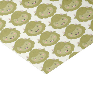 Cute Little Green Monsters Tissue Paper