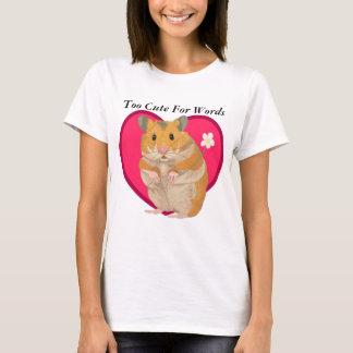 Cute little Hamster holding a flower T-Shirt