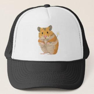 Cute little Hamster holding a flower Trucker Hat