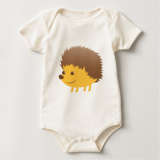 cute little hedgehog baby bodysuit