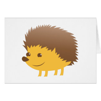 cute little hedgehog card