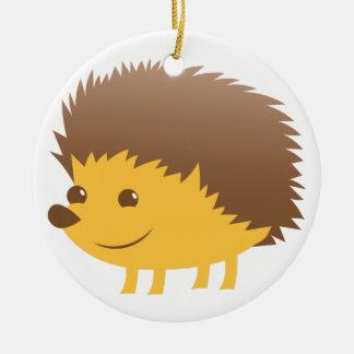 cute little hedgehog ceramic ornament