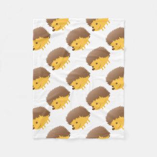 cute little hedgehog fleece blanket