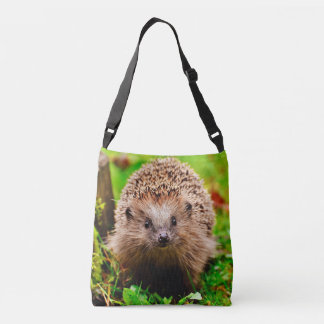 Cute Little Hedgehog in the Forest Crossbody Bag
