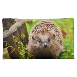 Cute Little Hedgehog in the Forest Makeup Bag