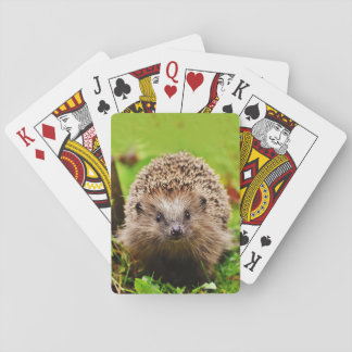 Cute Little Hedgehog in the Forest Playing Cards