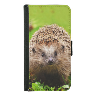 Cute Little Hedgehog in the Forest Samsung Galaxy S5 Wallet Case