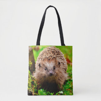 Cute Little Hedgehog in the Forest Tote Bag