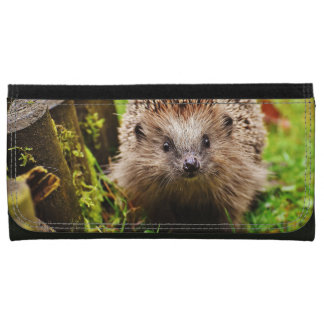 Cute Little Hedgehog in the Forest Wallets