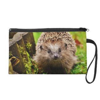 Cute Little Hedgehog in the Forest Wristlet