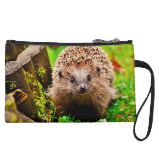 Cute Little Hedgehog in the Forest Wristlet Clutch