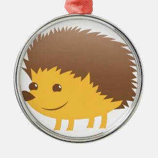 cute little hedgehog metal ornament