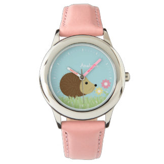Cute Little Hedgehog Personalized Wristwatch
