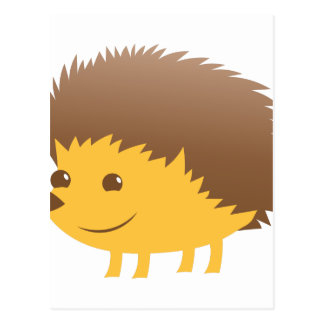 cute little hedgehog postcard