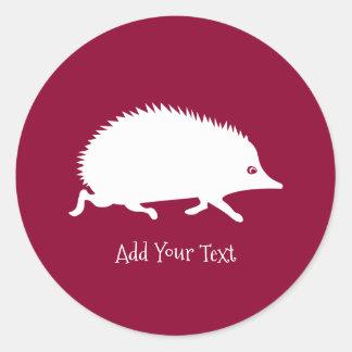 Cute Little Hedgehog Round Sticker