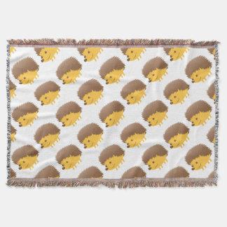 cute little hedgehog throw blanket
