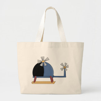 Cute Little Helicopter Large Tote Bag