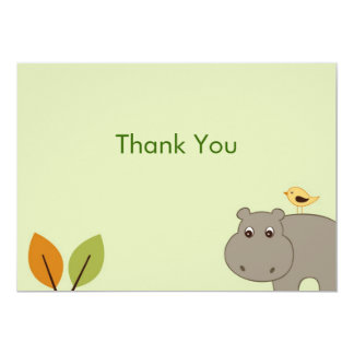 Cute Little Hippo Flat Thank You Note Cards