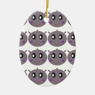 Cute little Hippos design Ceramic Ornament