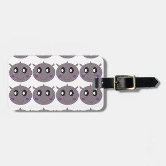 Cute little Hippos design Luggage Tag