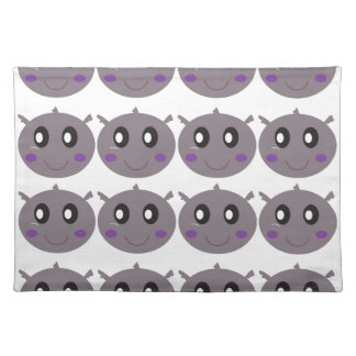 Cute little Hippos design Placemat