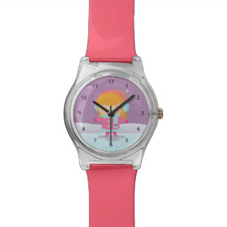 Cute Little Ice Skater Girl Winter Watches