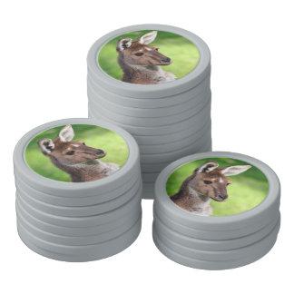 Cute Little Kangaroo Poker Chip Set