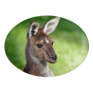 Cute Little Kangaroo Porcelain Serving Platter