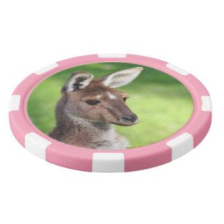 Cute Little Kangaroo Set Of Poker Chips