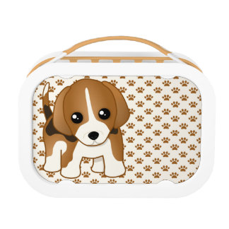 Cute Little Kawaii Beagle Puppy Dog Lunch Box