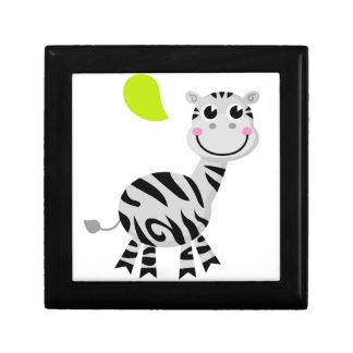 Cute little kids zebra gift box
