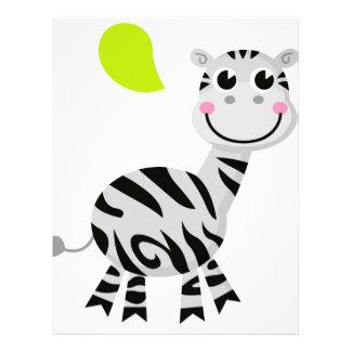Cute little kids zebra letterhead