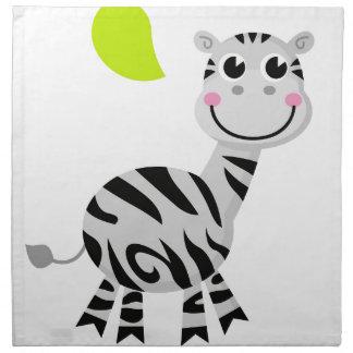 Cute little kids zebra napkin