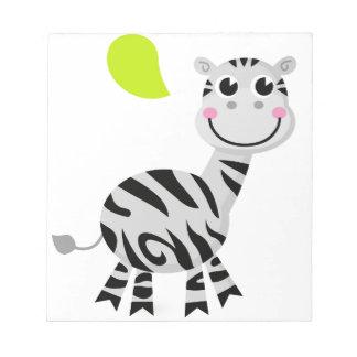 Cute little kids zebra notepad
