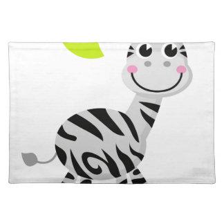 Cute little kids zebra placemat