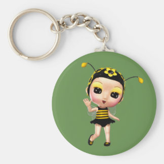 Cute Little Lady Bumblebee Keychain