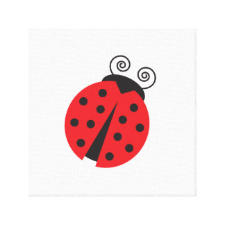 Cute Little Ladybug Gallery Wrapped Canvas