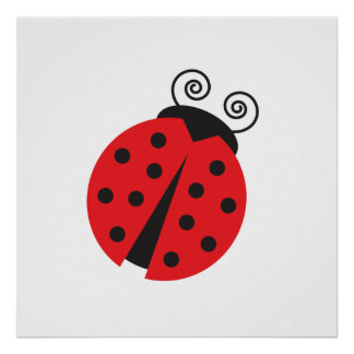 Cute Little Ladybug Poster