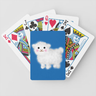Cute Little Lamb Bicycle Playing Cards
