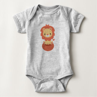 Cute Little Lion Baby Jersey Bodysuit Design