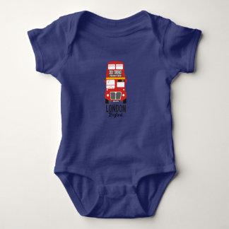 Cute Little London Bus Design Baby Jersey Bodysuit