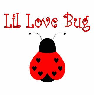 Cute Little Love Bug Heart Ladybug Ornament Photo Sculpture Ornament