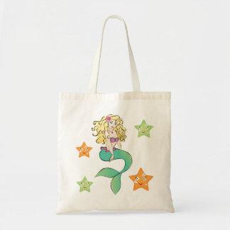 Cute Little Mermaid Budget Tote Bag