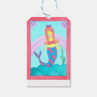 Cute little mermaid gift tags