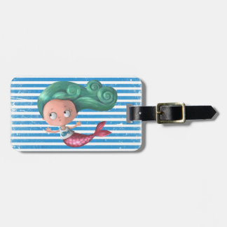 Cute Little Mermaid Luggage Tag